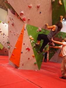 Climbing at Reading Climbing Centre