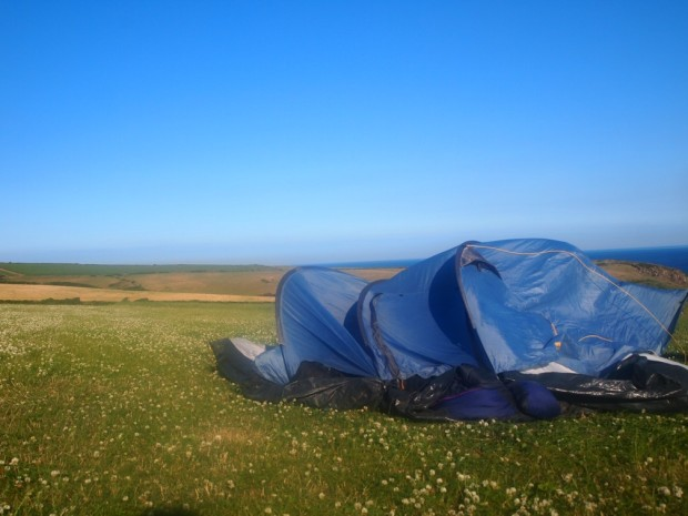 Collapsed Tent